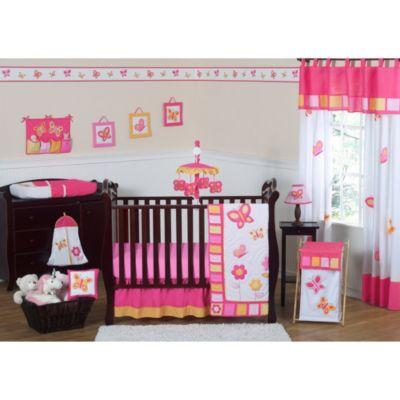 Sweet Jojo Designs Pink and Orange Butterfly Crib Bedding Collection >  Sweet Jojo Designs Pink and - Orange Crib Bedding From Buy Buy Baby