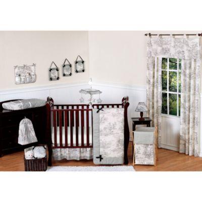 sweet jojo designs french toile 11piece crib bedding set in blackcream