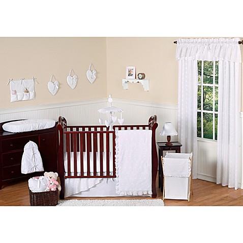 Eyelet White Crib Bedding Collection