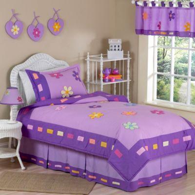 sweet jojo designs daisies 4piece twin bedding set
