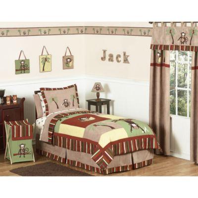 Sweet Jojo Designs Monkey Time 4 Piece Twin Bedding Set