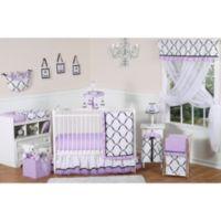 Sweet Jojo Designs Princess 11-Piece Crib Bedding Set in Black/White/Purple