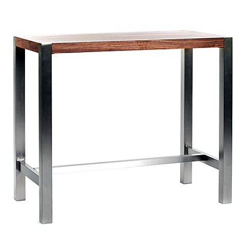 Moe 39 S Home Collection Riva Bar Table In Walnut Bed Bath Beyond
