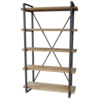 Moe's Home Collection 5-Level Lex Bookcase in Natural Finish