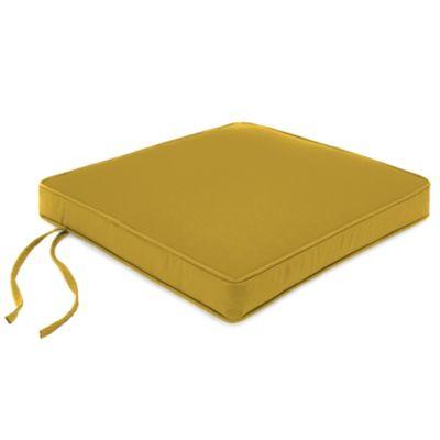 18 Inch Chair Cushion In Sunbrella® Canvas Maize