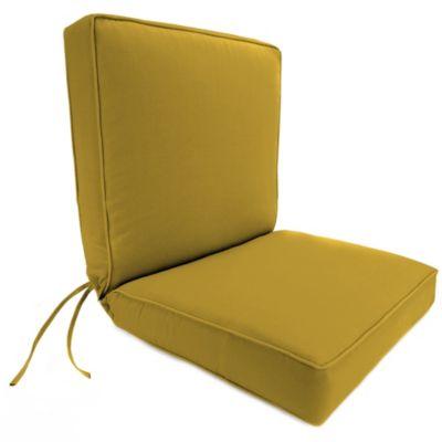 44 Inch X 22 Inch Dining Chair Cushion In Sunbrella® Canvas Maize
