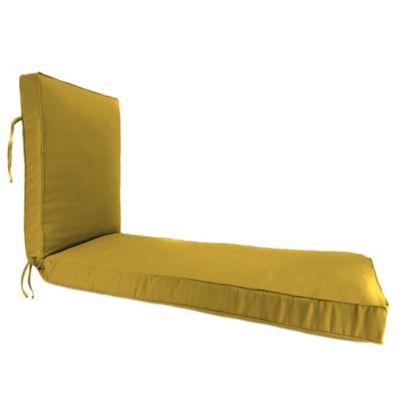 80 Inch X 23 Inch Chaise Lounge Cushion In Sunbrella® Canvas Maize