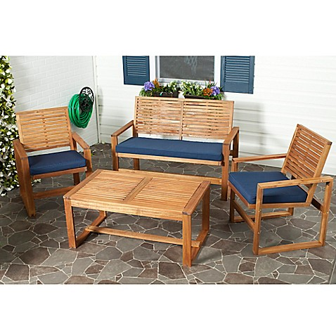 Safavieh Ozark 4 Piece Conversation Set Bed Bath & Beyond
