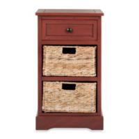 Safavieh Carrie Side Storage Table in Red