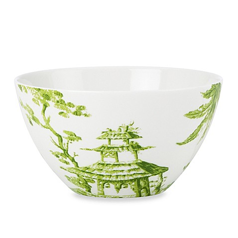 Scalamandre by Lenox® Toile Tale Chartreuse 24-Ounce All-Purpose Bowl