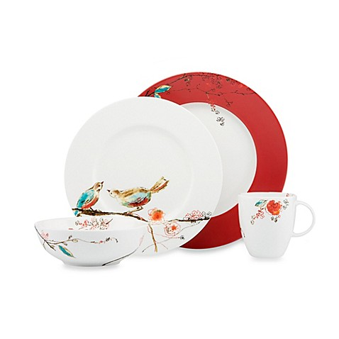 Simply Fine Lenox 174 Chirp Scarlet Dinnerware Collection