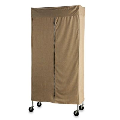Great Commercial Grade Garment Rack With Tweed Cover
