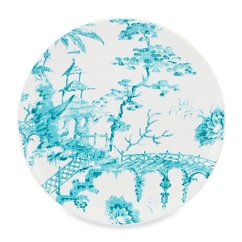 Scalamandre by Lenox® Toile Tale Teal 9-Inch Accent Plate