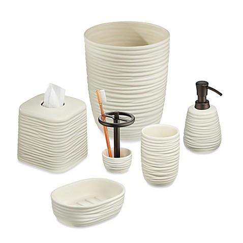 Interdesign arlo bath accessories in natural bed bath for Bath accessories sale