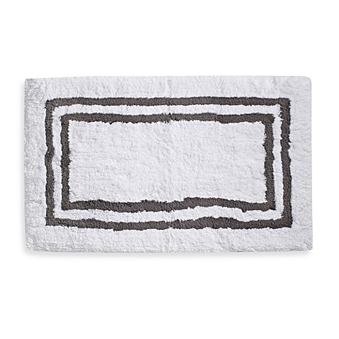 Wamsutta® 21-Inch x 34-Inch Hotel Spa Rug in White/Grey