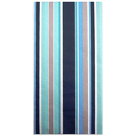 Paper Guest Towel Coastal Stripe Blue Teal Bed Bath Amp Beyond