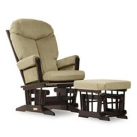 Dutailier® Ultramotion Bella Classic Glider and Ottoman in Lichen Green