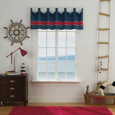 buy navy multi window valance from bed bath & beyond