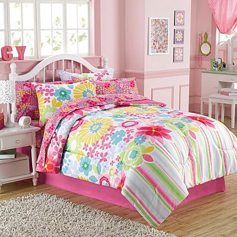 Bouquet 6 8 Piece Comforter And Sheet Set Bed Bath Amp Beyond