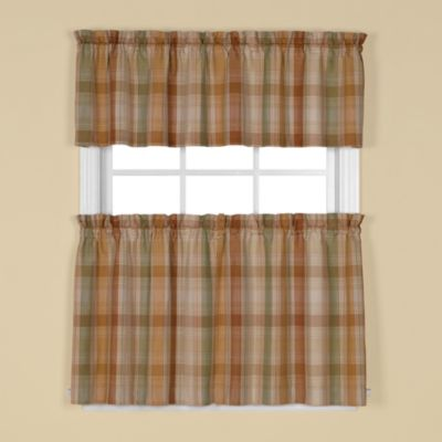 cooper window curtain valance in rust - Rust Color Curtains