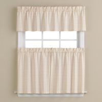 Hopscotch 56-Inch x 36-Inch Window Curtain Tier Pair in Neutral