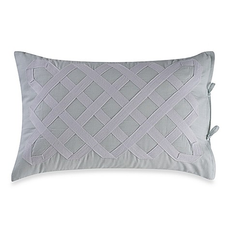 Real Simple 174 Soleil Oblong Throw Pillow In Aqua Bed Bath