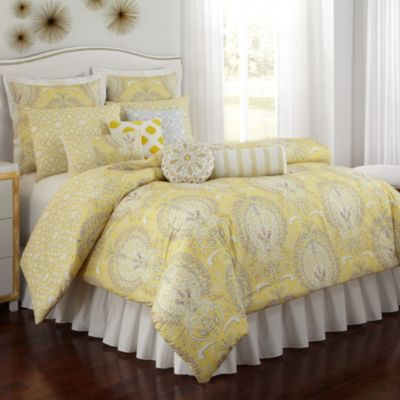 Buy Yellow Grey Comforter From Bed Bath Amp Beyond