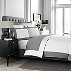 Wamsutta® Hotel Micro Cotton® Reversible Full/Queen Duvet Cover in White/Charcoal