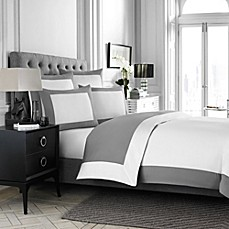 Wamsutta® Hotel MICRO COTTON® Reversible Duvet Cover in White/Charcoal
