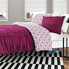 Reagan Reversible Comforter Set In Fuchsia Bed Bath Beyond