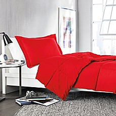 Solid Comforter Set in Red