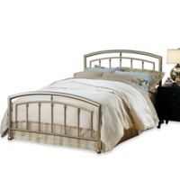 Hillsdale Claudia Full Complete Bed with Rails in Matte Nickel