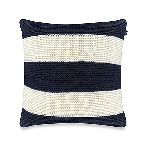 image of Nautica® Mainsail Knit Square Throw Pillow in Navy