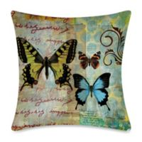 19-Inch Outdoor Throw Pillow in Homespun Butterfly 1