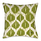 Colored IKats 4 Square Outdoor Throw Pillow in Green