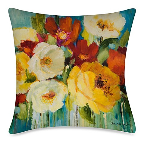 image of 19-Inch Outdoor Throw Pillow in Flower Power I