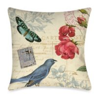Memories VII Butterfly Square Outdoor Throw Pillow