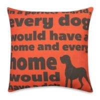 """""""In a Perfect World"""" Outdoor Throw Pillow in Red"""