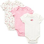 Little Me® Size Newborn 3-Pack Rose Bodysuit