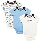 Little Me® Size 6M 3-Pack Puppies Bodysuit in Blue