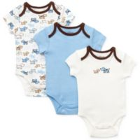 Little Me® Size Newborn 3-Pack Puppies Bodysuit in Blue