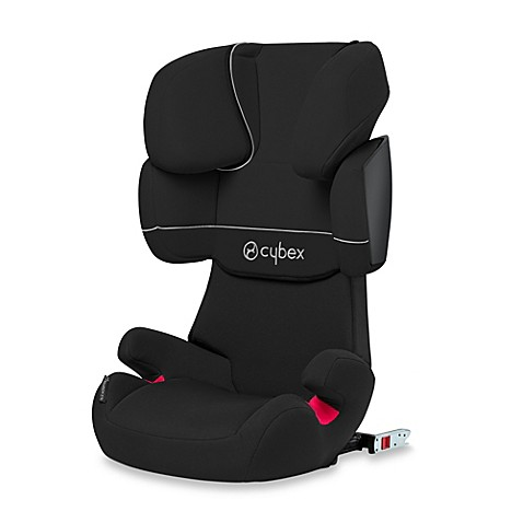 cybex silver solution x fix booster seat in pure black. Black Bedroom Furniture Sets. Home Design Ideas
