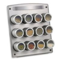Kamenstein® Magnetic 12-Jar Spice Rack with Easel