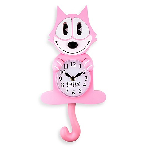 Felix The Cat 3 D Animated Wall Clock In Pink Bed Bath