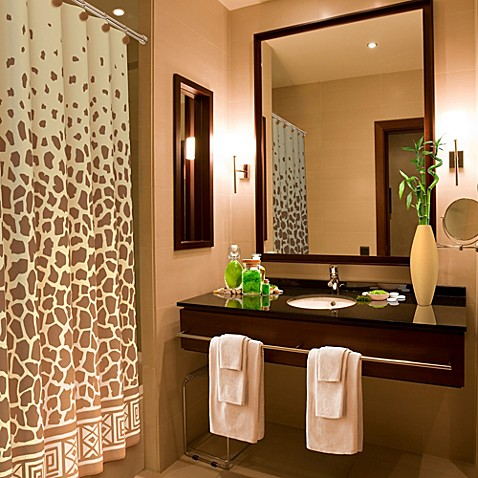 Giraffe Print 70 Inch X 72 Inch Shower Curtain Bed Bath