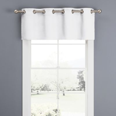 Superior Newport Grommet Window Curtain Valance In White