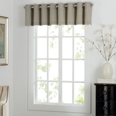Newport Grommet Window Curtain Valance In Natural