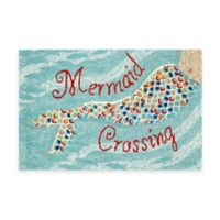 Frontporch Mermaid Crossing 1-Foot 8-Inch x 2-Foot 6-Inch Door Mat