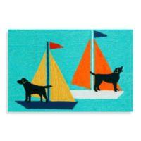 Trans-Ocean 24-Inch x 36-Inch Frontporch Sailing Dogs Door Mat