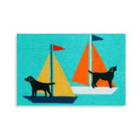 Trans-Ocean 30-Inch x 48-Inch Frontporch Sailing Dogs Door Mat